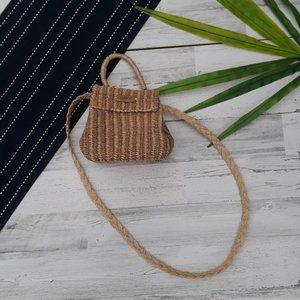 Esprit| Tan Woven Wicker Crossbody Handband